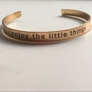 """Jewelry - """"enjoy the little things"""" bangles"""